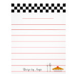 Checkerboard Pie Recipe Paper - With Lines Custom Flyer