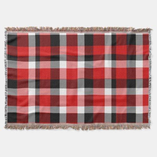 Checkerboard Plaid Throw Throw Blanket