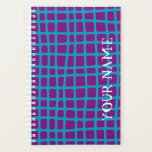 "Checkerboard! Planner<br><div class=""desc"">Irregular blue checkered design with customizable background colors!</div>"