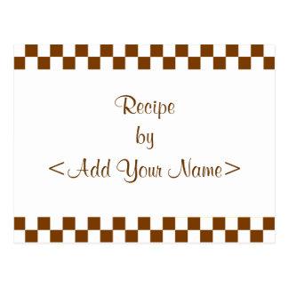 Checkerboard Recipe Cards Post Cards