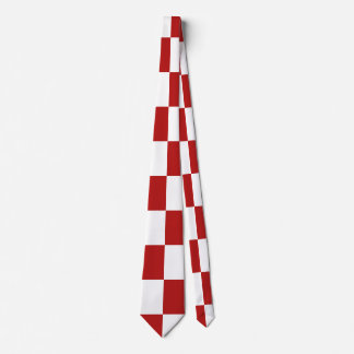 CHECKERBOARD RED! (pick a background color!) ~~.pn Tie