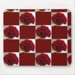 Checkerboard Rose Mouse Pad