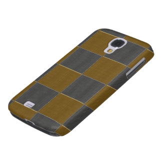 Checkerboard Silver and Gold Galaxy S4 Cover