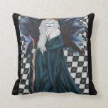 Checkerboard Sorcery Pillow-Fantasy Faery Sidhe