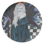 """Checkerboard Sorcery"" Plate"