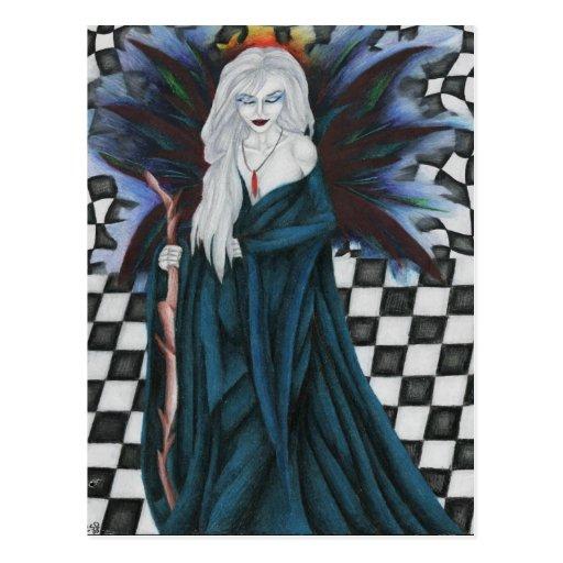 Checkerboard Sorcery Postcard