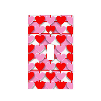 Checkerboard Valentine Hearts Light Switch Cover