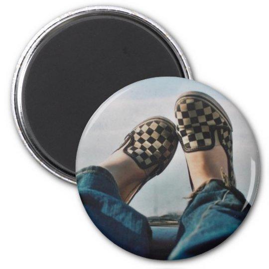 Checkerboard Vans Magnet