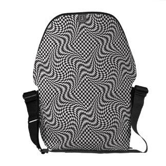 Checkerboard Warp Bags Courier Bag