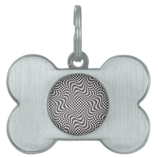 Checkerboard Warp Pet Tag