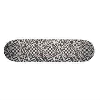 Checkerboard Warp Skateboard