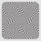 Checkerboard Warp Square Sticker