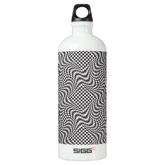 Checkerboard Warp Water Bottle