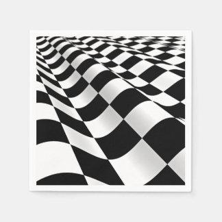 Checkerboard Waves Napkin