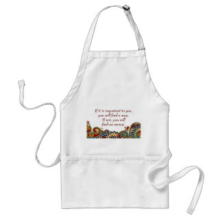 Checkerboard Whimsy Affirmation Apron