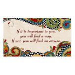 Checkerboard Whimsy Affirmation /Business Cards