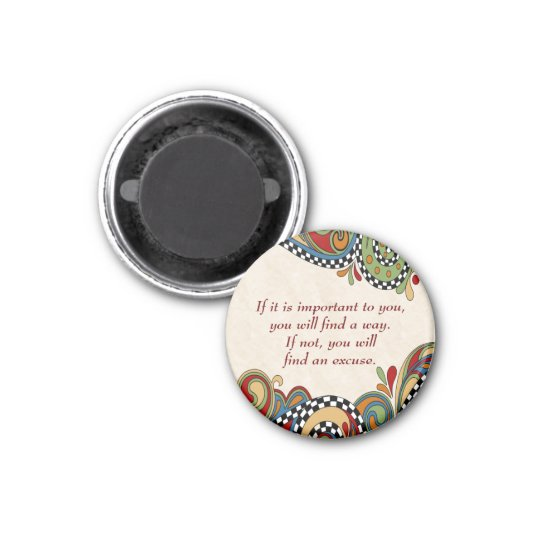 Checkerboard Whimsy Affirmation Magnet