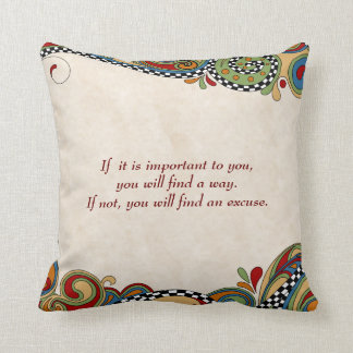 Checkerboard Whimsy Affirmation Pillow
