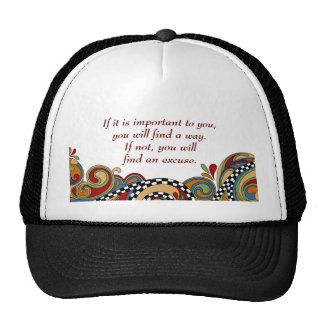 Checkerboard Whimsy Affirmation Trucker Hat