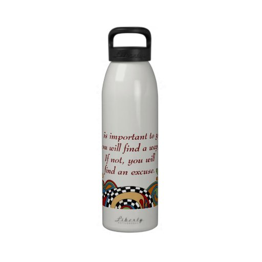 Checkerboard Whimsy Affirmation Water Bottle