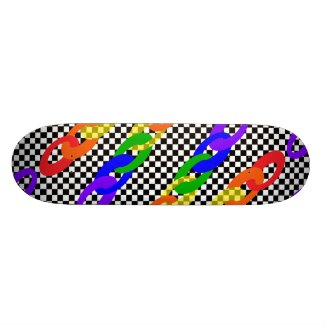 Checkerboard Wild Rainbow 2 Skateboard