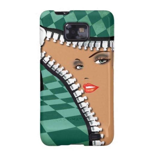 Checkerboard Zipper designer phone case | jade Samsung Galaxy Covers