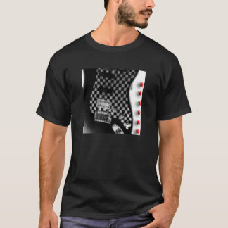 checkerboarded guitar T-Shirt