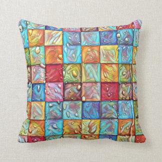 Checkerd Colors Throw Pillow