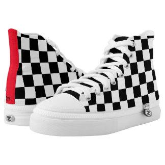 Checkerd Flag High-Top Sneakers