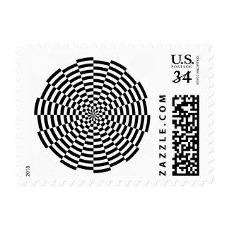 checkerd postage
