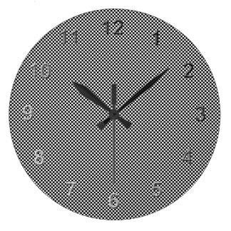 Checkerd Time Large Clock