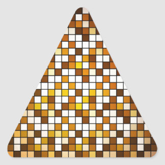Checkered abstract background triangle sticker
