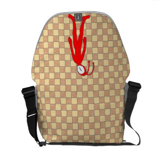 Checkered Alien Courier Bag