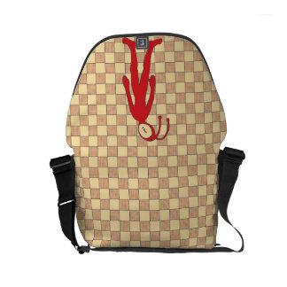 Checkered Alien Small Messenger Bag