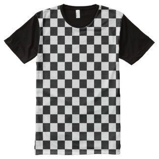 Checkered All-Over-Print T-Shirt