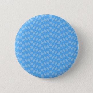 Checkered Aqua Wave Pattern Pinback Button
