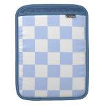 Checkered Baby Blue iPad Sleeves
