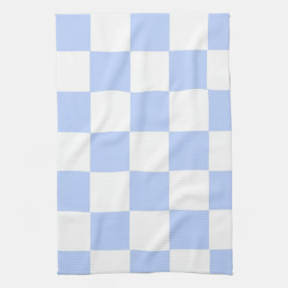 Checkered Baby Blue Hand Towels