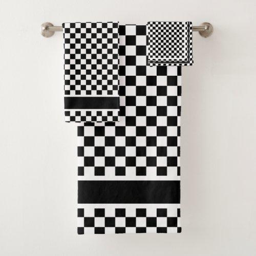Checkered Bath Towel Set