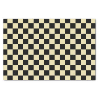 Checkered Beige and Black Tissue Paper