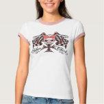 Checkered Biker Chick T-Shirt
