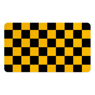 Checkered - Black and Amber Business Card