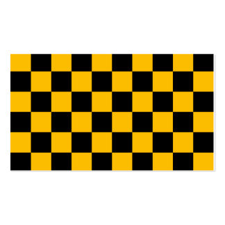Checkered - Black and Amber Business Cards