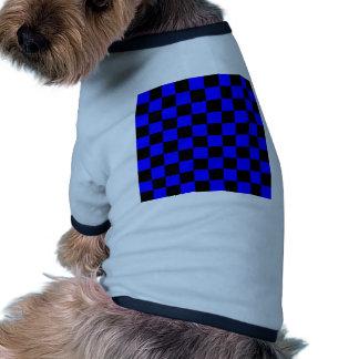 Checkered - Black and Blue Doggie Tee Shirt