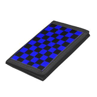 Checkered - Black and Blue Tri-fold Wallet