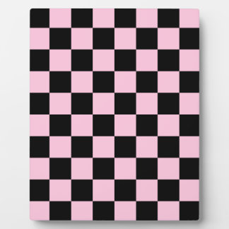 Checkered - Black and Cotton Candy Plaque