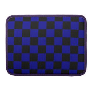 Checkered - Black and Dark Blue Sleeve For MacBooks