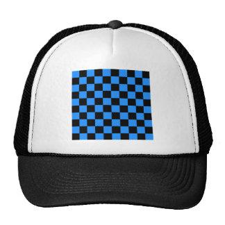 Checkered - Black and Dodger Blue Trucker Hat