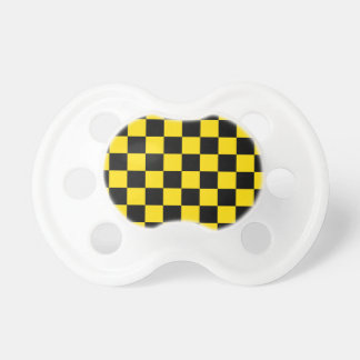 Checkered - Black and Golden Yellow Pacifier