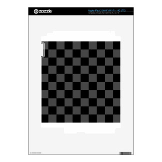 Checkered - Black and Gray Decals For iPad 3